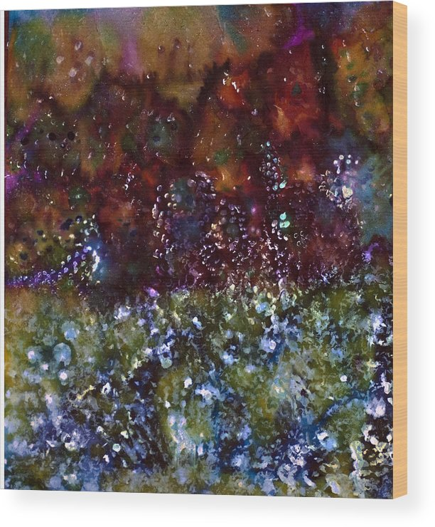 Blue Marmalade Wood Print featuring the painting Blue Marmalade by Don Wright