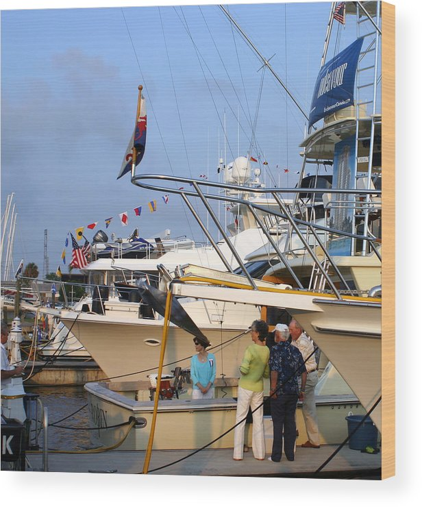 Yacht Portraits Wood Print featuring the photograph Keels And Wheels Yachta Yachta Yachta Yachta by Jack Pumphrey