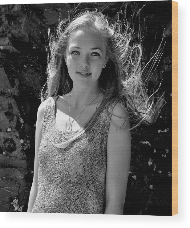 Portraits Wood Print featuring the photograph Lily by Heidi Fickinger