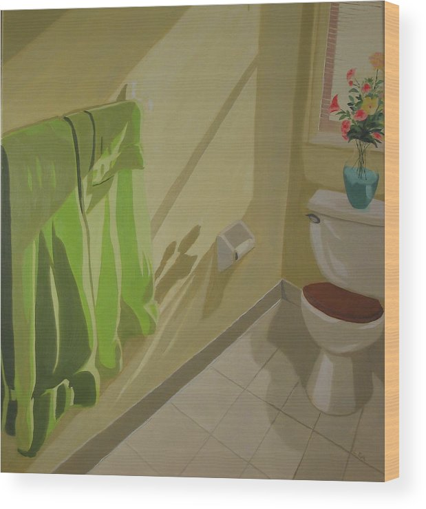 Interior Wood Print featuring the painting Morning Sunlight by Lea Novak