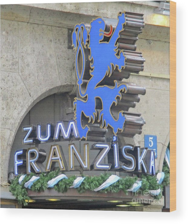 Munich Wood Print featuring the photograph Munich Detail 2 by Randall Weidner