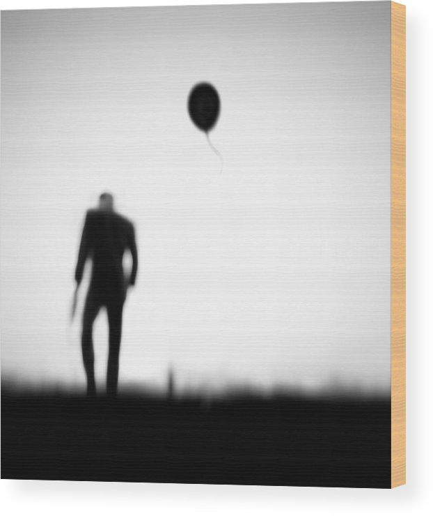 Balloon Wood Print featuring the photograph One Last Chance by Hengki Lee