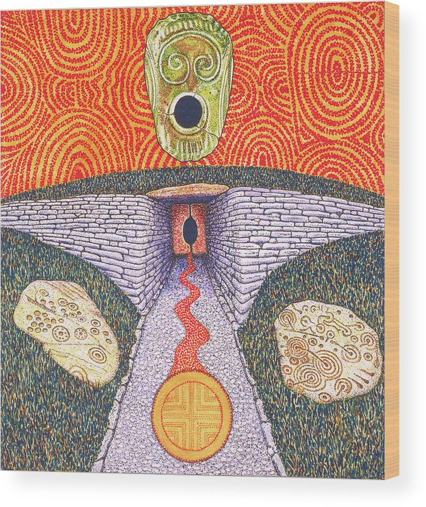 Celtic Goddess Wood Print featuring the painting Portal Of The Celtic Goddess by Timothy White