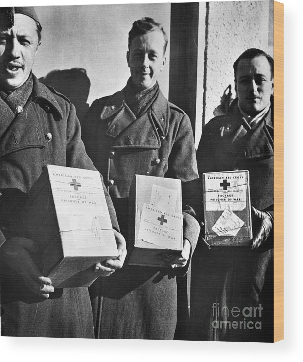 1942 Wood Print featuring the photograph Prisoners Of War, C1942 by Granger