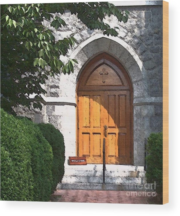 Church Wood Print featuring the photograph Sanctuary by Debbi Granruth