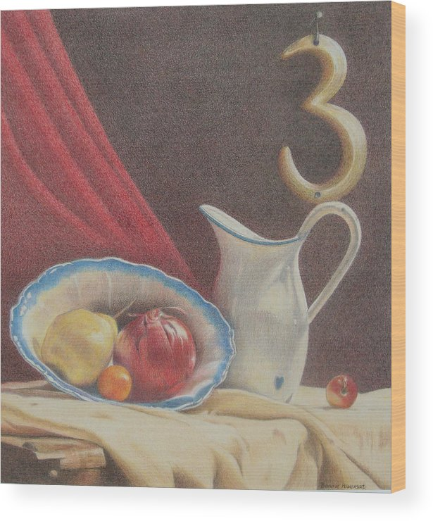 Still Life Wood Print featuring the painting The Third Element by Bonnie Haversat