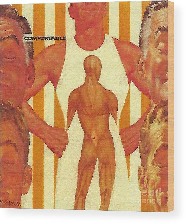 Man Wood Print featuring the photograph There Comes A Time In A Man's Life When He Becomes Comfortable In His Own Skin by Randall Weidner