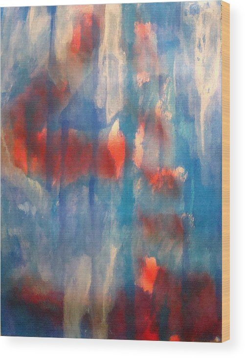 Christian Wood Print featuring the painting On A Clear Day - Red Forever by W Todd Durrance