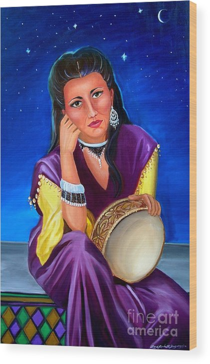 Gypsy Wood Print featuring the painting The Gypsy by Lora Duguay
