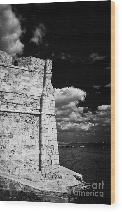 Larnaca Wood Print featuring the photograph Larnaca Fort Dating From 1625 In Larnaka Republic Of Cyprus Europe by Joe Fox