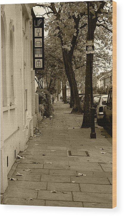 London Wood Print featuring the photograph A London Street I by Ayesha Lakes