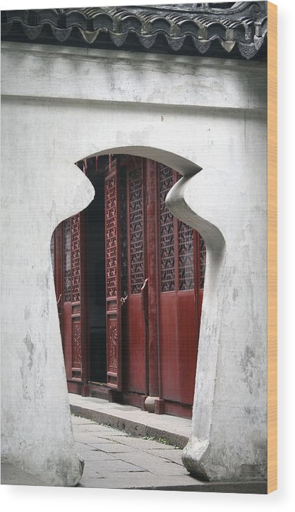China Wood Print featuring the photograph Doorway by Erika Lesnjak-Wenzel