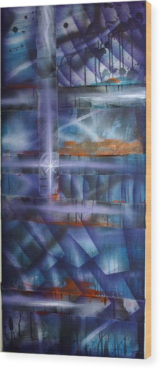 Purple Wood Print featuring the painting Purple by Leigh Odom
