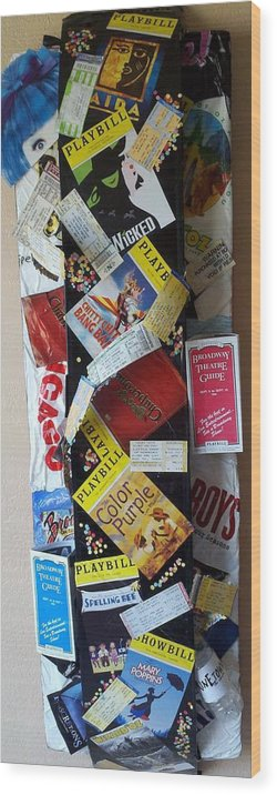 Broadway Playbills Wood Print featuring the mixed media Celebration by Stephen Ridl