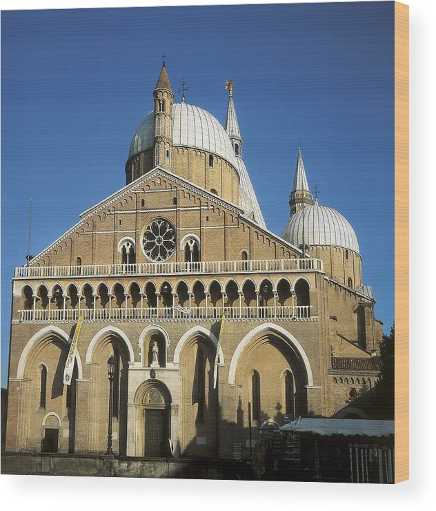 Square Wood Print featuring the photograph Basilica Of Saint Anthony Of Padua by Everett