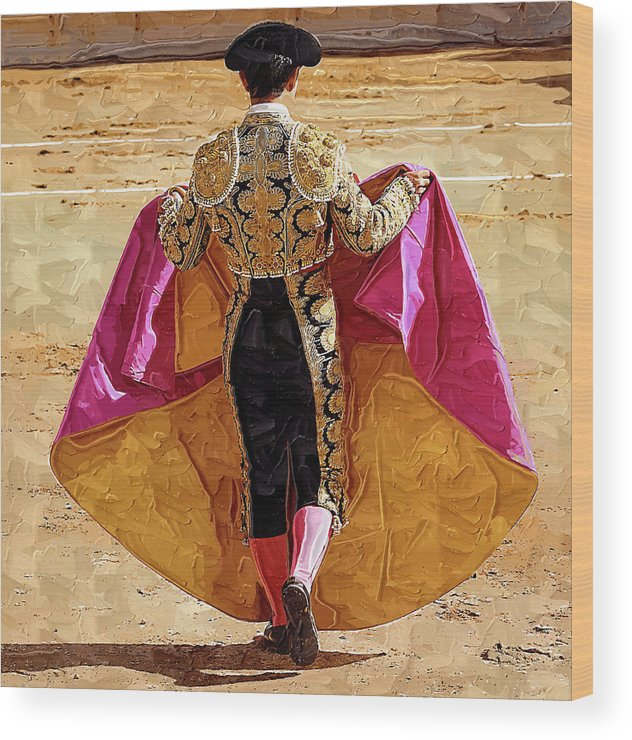 Matador Wood Print featuring the photograph Matador Ready To Work by Clarence Alford