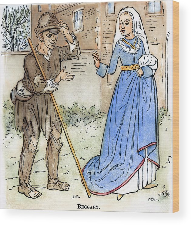 1330 Wood Print featuring the photograph English Beggar, 1330 by Granger