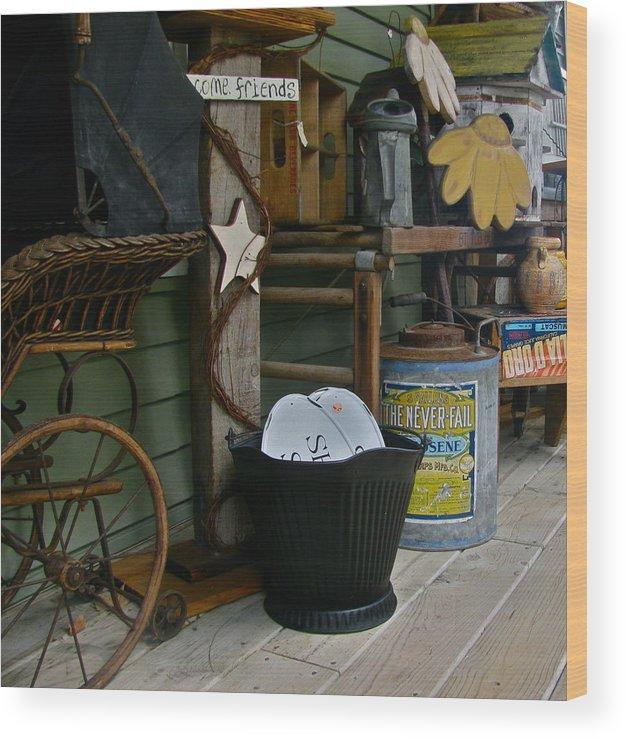 Antiques Wood Print featuring the photograph Treasure Quest by Rhonda Jones