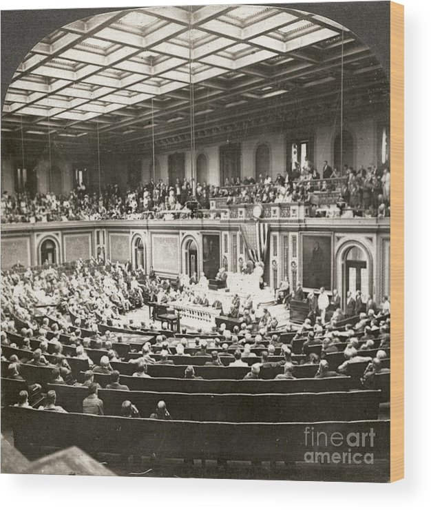 1917 Wood Print featuring the photograph Woodrow Wilson (1856-1924) by Granger