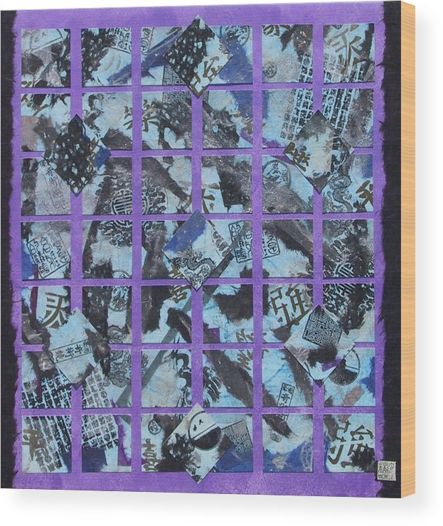 Mixed Media Wood Print featuring the mixed media Fragmented by Michele Caporaso