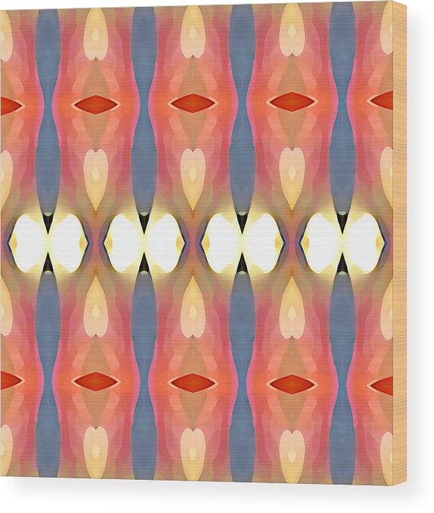 Abstract Art Wood Print featuring the painting Paradise Repeated by Amy Vangsgard