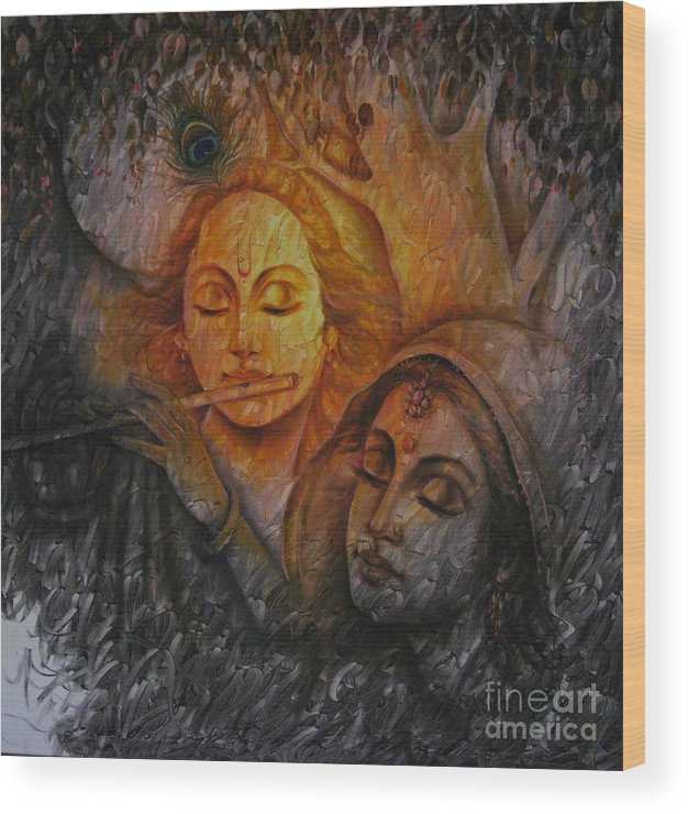 Radha Krishna Series Wood Print