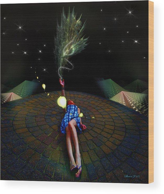 Wood Print featuring the digital art Tashia's Universe by Sharon Hendrickson