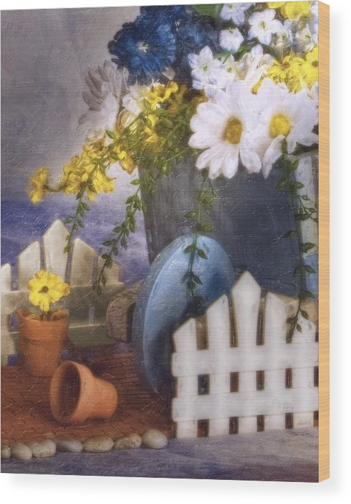 Arrangement Wood Print featuring the photograph In The Garden by Tom Mc Nemar