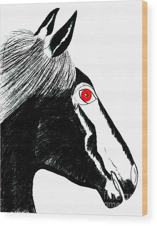 Horses Wood Print featuring the painting Darwin by Tess M J Iroldi
