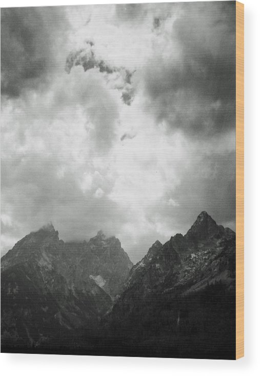 Landscape Wood Print featuring the photograph Teton Sky by Allan McConnell