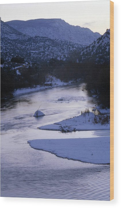 Landscape Wood Print featuring the photograph Cold And Blue by Lynard Stroud