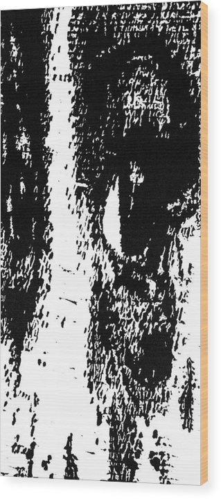 Black Wood Print featuring the painting Eyes No. 1 -- Hand-pulled Wood Cut by Lynn Evenson