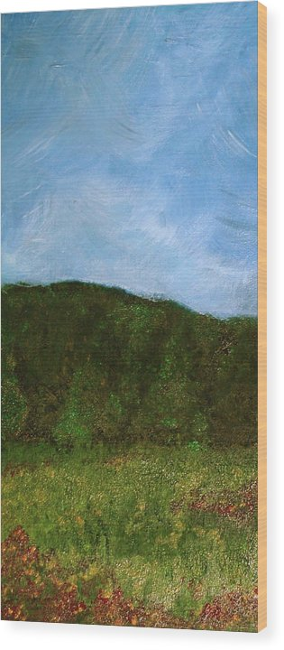 Landscape Wood Print featuring the painting Study In Light Five by Karen Fowler