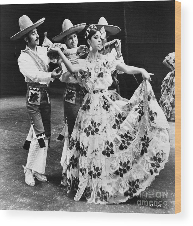 1965 Wood Print featuring the photograph Mexican Folk Dance by Granger