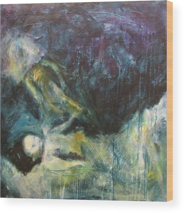 Art Wood Print featuring the painting Shrouded In Brokenness by Valerie Greene