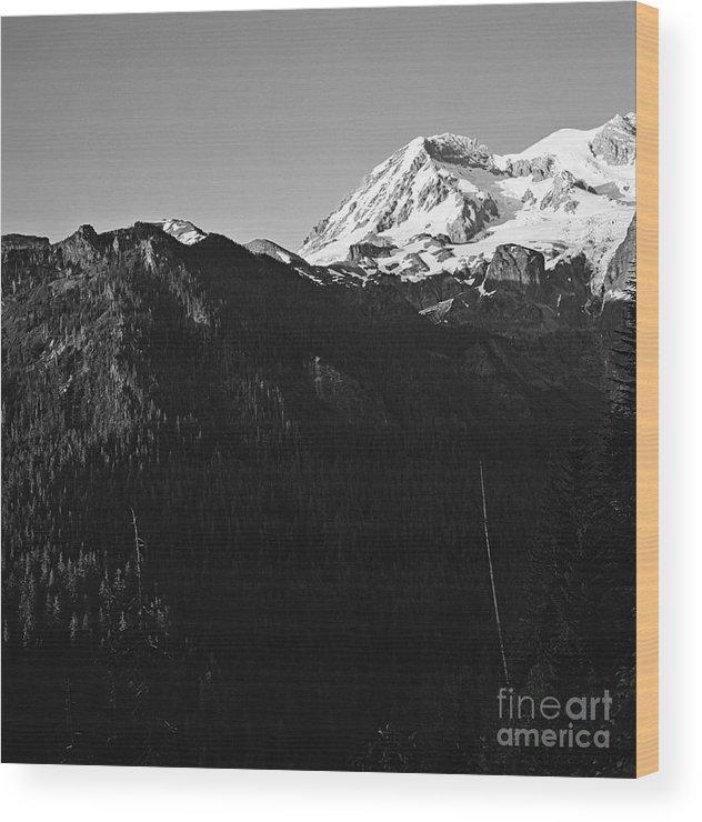 Landscape Wood Print featuring the photograph West Slope Mt. Rainier by Earl Johnson