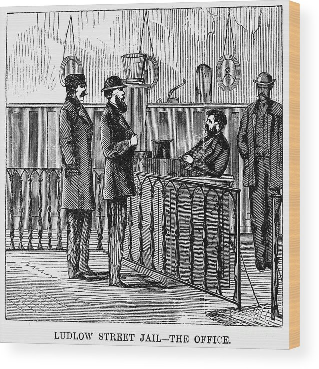 1868 Wood Print featuring the photograph Ludlow Street Jail, 1868 by Granger