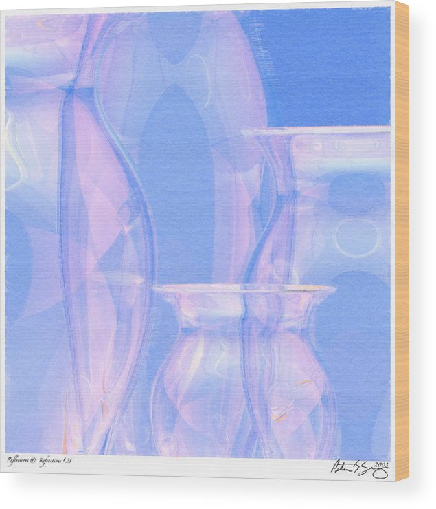 Glass Wood Print featuring the photograph Abstract Number 21 by Peter J Sucy