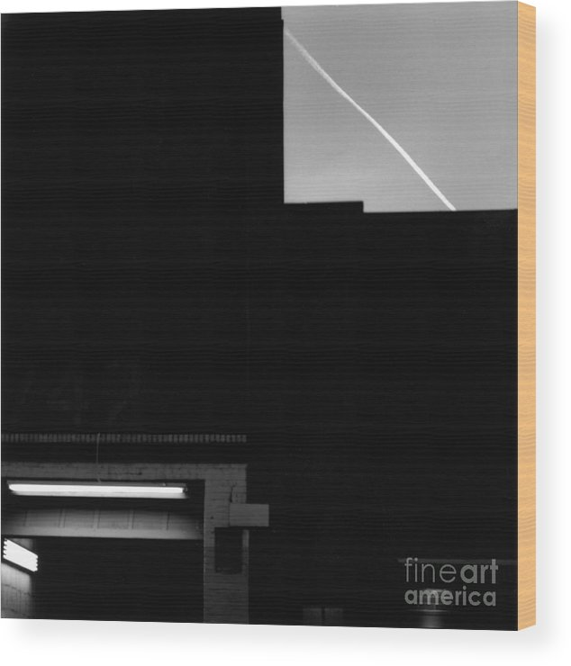 Abstract Wood Print featuring the photograph New York At Dusk by Arvind Garg
