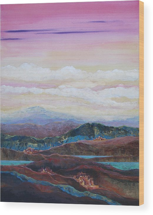 Painting Wood Print featuring the painting Arizona Reflections Number Three by Don Trout