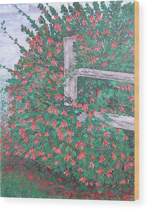 Floral Wood Print featuring the painting Beauty Is Everywhere by Ricklene Wren