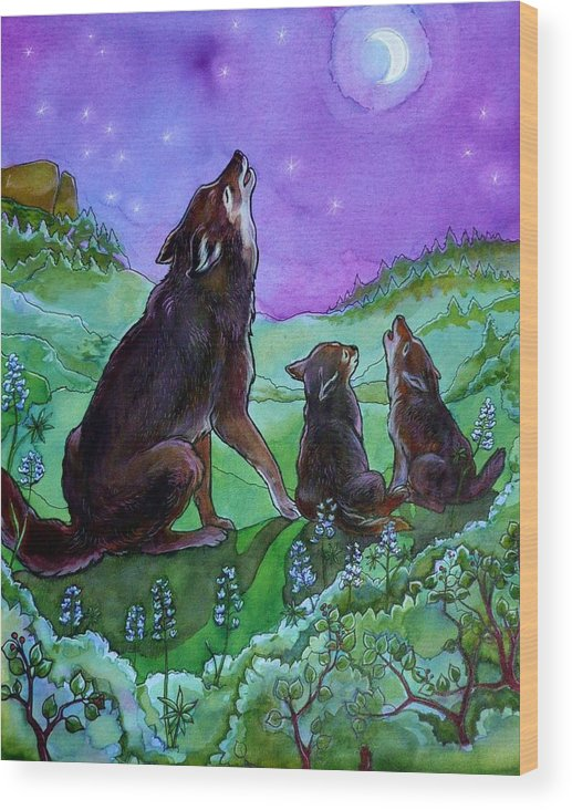 Coyote Wood Print featuring the painting Make A Joyful Noise by Jill Iversen