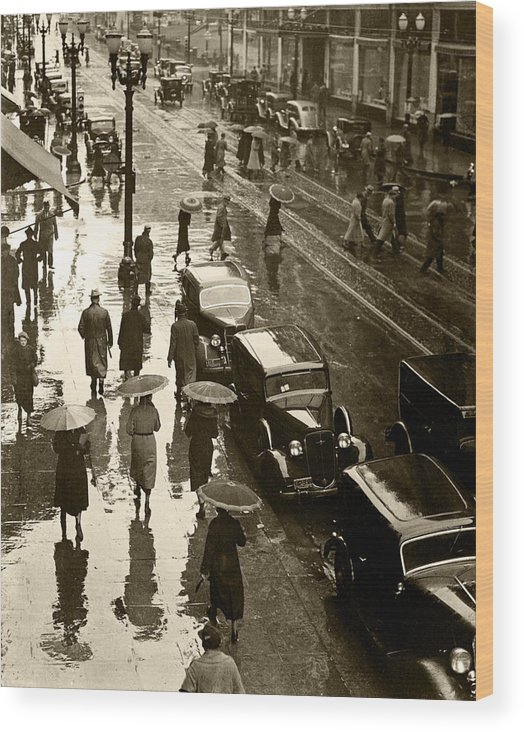 Wood Print featuring the photograph Rainy Day by Unknown