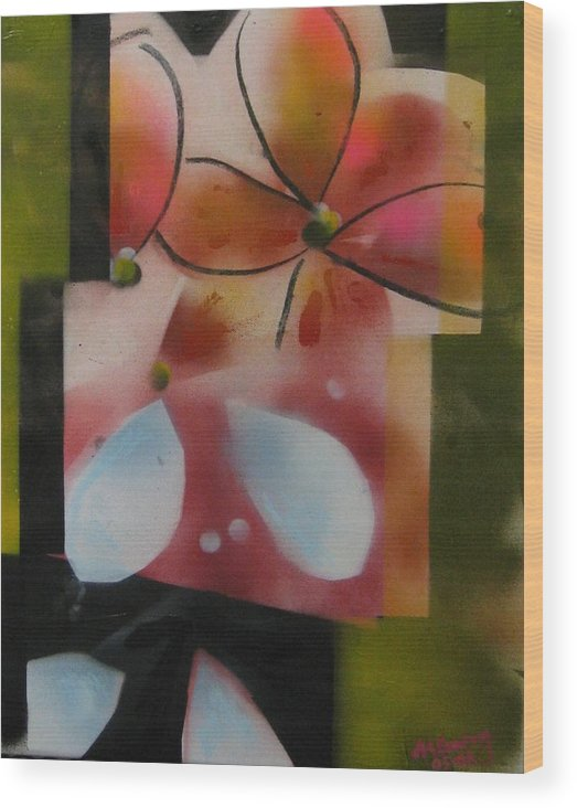 Wood Print featuring the painting Shelovesmenots by Andrea Noel Kroenig