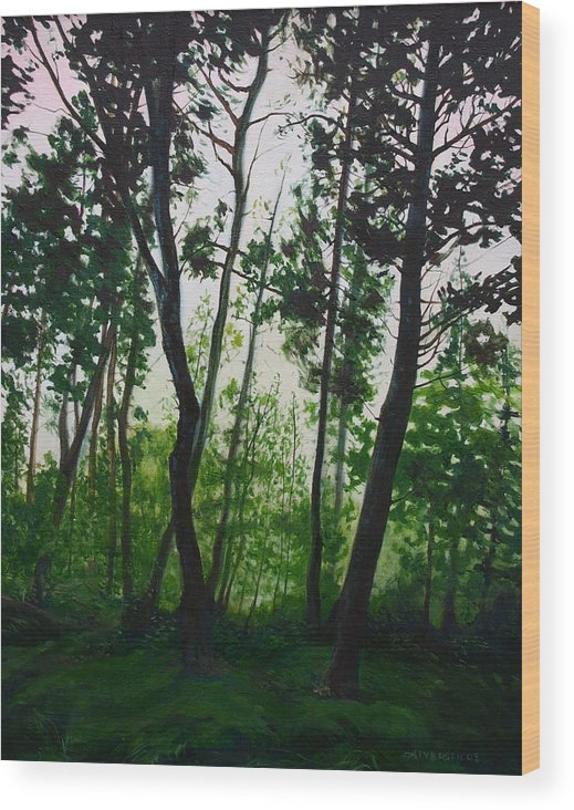 Fen Wood Print featuring the painting The Fen by Jill Iversen