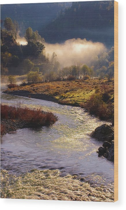 American River Wood Print featuring the photograph American River Confluence by Sherri Meyer