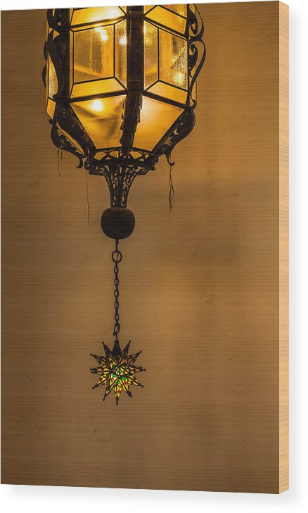 Santa Wood Print featuring the photograph Santa Barbara Courthouse Lantern by Thomas Hall