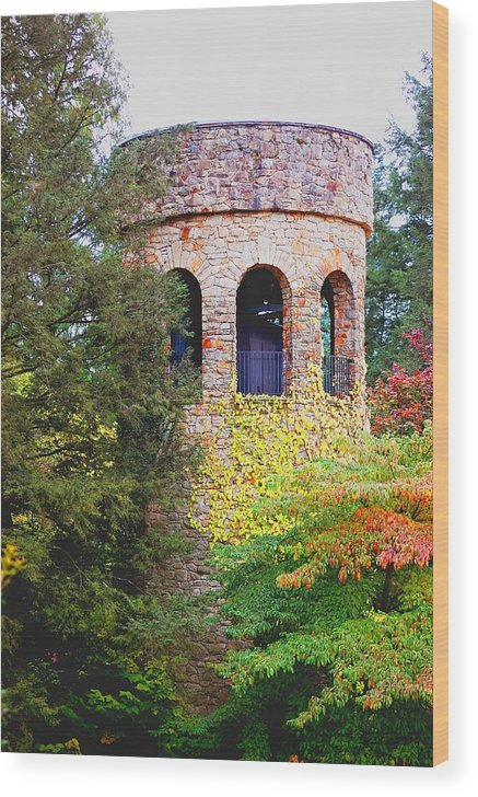 Bell Wood Print featuring the digital art Bell Tower by Richard Ortolano