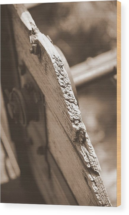 Old Wood Print featuring the photograph Carriage by Caroline Clark