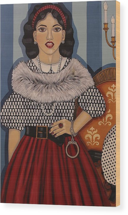 Woman Wood Print featuring the painting I Have A Right To Speak by Stephanie Cohen